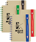 5 X 7 Color Band Recycled Notebooks